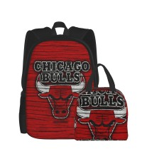 Basketball Logo NBA11 School Backpack for Boys Teens Bookbag Travel Daypack Kids Girls Lunch Bag Pencil Case,Very suitable for outdoor sports Water Resistant Teens Bookbag Fashion School Bags,Polyester.