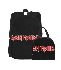Music - Iron Maiden66 School Backpack for Boys Teens Bookbag Travel Daypack Kids Girls Lunch Bag Pencil Case,Very suitable for fishing Water Resistant Teens Bookbag Fashion School Bags,Polyester.
