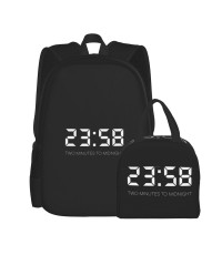 Music - Iron Maiden72 School Backpack for Boys Teens Bookbag Travel Daypack Kids Girls Lunch Bag Pencil Case,Very suitable for hiking Water Resistant Teens Bookbag Fashion School Bags,Polyester.