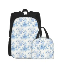 The Leah Collection-Small Tonal Floral School Backpack for Boys Teens Bookbag Travel Daypack Kids Girls Lunch Bag Pencil Case,Very suitable for shopping Water Resistant Teens Bookbag Fashion School Bags,Polyester.